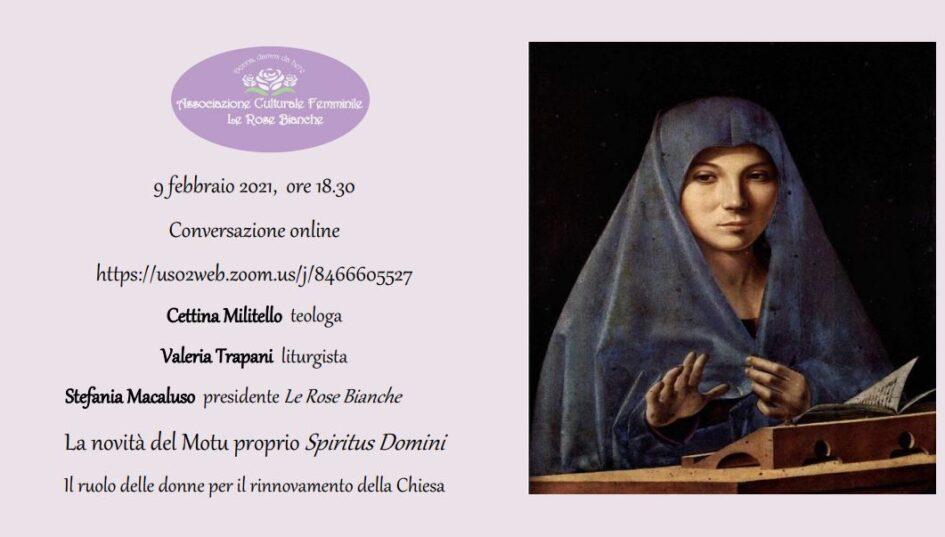 """Passi che rendono bella la sposa: il Motu Proprio """"Spiritus Domini"""""""